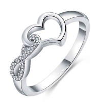 European and US markets platinum selling heart-shaped diamond ring