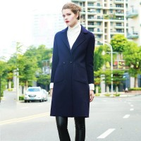 International brand lapel wool coat Slim thick winter new style double-sided wool coat in Europe and the US market fashion woolen coat