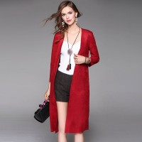 Autumn popular new models in Europe and the US market plush cardigan coat ladies fast delivery
