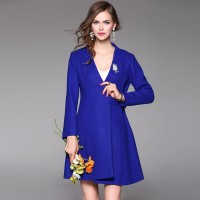 Autumn popular new models in Europe and the US market, international brands of high-end women's woolen coat fast delivery