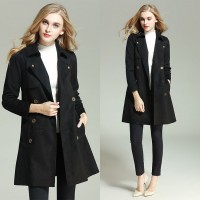 European markets and the US market, international brands solid color slim trench coat women's European leg of the high-end fashion coat jacket quick delivery