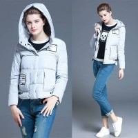 Slim style hooded down jacket short slim thickening of the European market and the US market a new style solid white duck down fast delivery