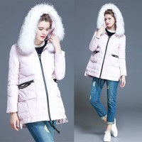 Ms. Slim Down a short style hooded thick Nagymaros collar winter in Europe and the US market high-end new models Promotions