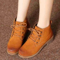 Ms. autumn and winter leather boots British style Martin boots popular boots Chelsea boots ladies fashion pure leather ankle boots