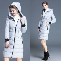 Ms. Slim Down thickening hooded long style European market and the US market a new style white duck down warm jacket quick delivery