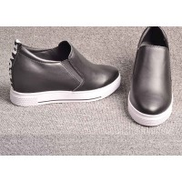 Winter new style leather ladies' shoes brand shoes inside Miss Gao Gendi shoes low price fast delivery