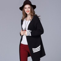 Large size women in Europe and the US promotional discounts markets winter new style woolen cardigan overweight ladies sweater coat Ms.