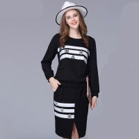 Large size women's winter new printing casual sports style two-piece thickening overweight female taxi velvet knitted suits Ms.