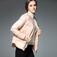The new autumn and winter style jacket style solid color short stand up collar Slim thin bread suit Ms.