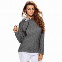 Popular autumn and winter new style double hooded long-sleeved round neck sweater sports T-shirt coat 25931