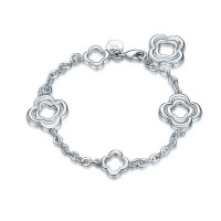 Europe and the United States market prices low silver jewelry 925 bracelets creative flower shape hot selling new style hot selling bracelet