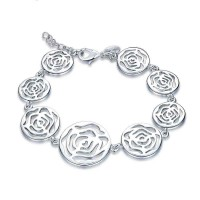 Low silver prices rose bracelet ladies fashion brand 925 all matching accessories discount jewelry