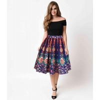 Promotions hot selling digital printing totem pattern skirt low price all new matching princess dress ladies