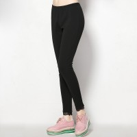 European market and the US market large size women's spring fertilizer to increase female Shi Leisi side overweight overweight ladies leggings elastic long pants