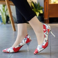 Autumn new models in Europe and the US market flow heels pointed fine with Ms. shoes, colorful shoes sexy lady shoes