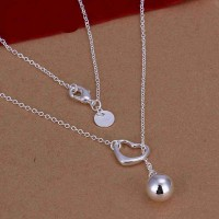 Hot sales promotion jewelry fashion silver jewelry US market European market discounted heart-shaped necklace good quality and hot sales