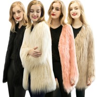 Women's Luxury Winter Shaggy Long Faux Fur Coat
