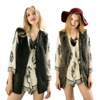 Women Luxury Faux Fur Winter Vest Coat