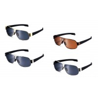 Unisex square metal frame sunglasses