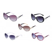 Round Mirror Metal Womens Sunglasses