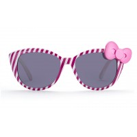 Fashion ladies sunglasses bow stripes frame reflective sunglasses