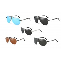 Sunglasses Men Classic Fashion Polarized Sunglasses Rimless
