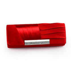Handbags/ Clutches Satin With Austrian Rhinestone More Colors Available