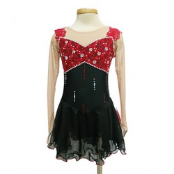 Dumb Light Spandex Elasticated Net Sequin Backless Figure Skating Clothing