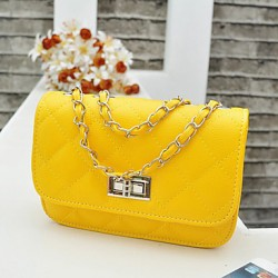 Fashion Check Pattern Chain Shoulder Bag