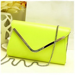 Fashion Simple Chain Envelope Pattern Clutch