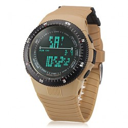 Men & #039;S Digital Lcd Multifunctional Rubber Band Wrist Watch (Assorted Colors)