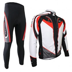 Arsuxeo Men & #039;S Cycling Jersey Long Sleeves With Tights Pants Fashion