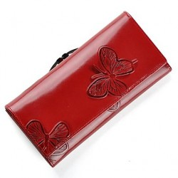 Fashion Beautiful Butterfly Pattern Genuine Leather Wallet Women & #039;S Wallet Luxury Fashionable Designer Purse