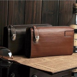 Men & #039;S Genuine Leather Business Briefcase Clutch Bags Wallet