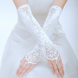 Elbow Length Fingerless Glove- Tulle Bridal Gloves/Party/ Evening Gloves