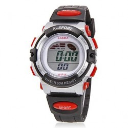 Children & #039;S Multi-Functional Lcd Digital Rubber Band Wrist Watch (Assorted Colors)