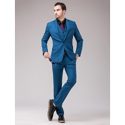 Blue Serge Slim Fit Three-Piece Suit