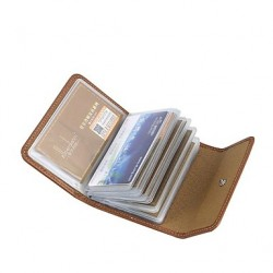 Unisex Leather Credit Card Holder/Case Card And Business Card Package