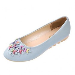 Women & #039;S Shoes Patent Leather Flat Heel Round Toe Flats Casual More Colors Available