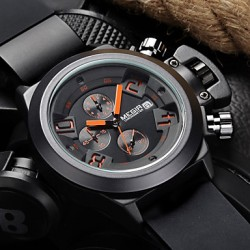 Brand Men & #039;S PoPUlar Watches Date Chronograph Sport Watch Men Guaranteed Military Watch Silicone Wristwatch Fashion