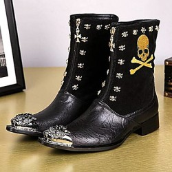Men & #039;S Shoes Amir Limited Edition Pure Handmade Nightclub/Party & Evening Leather Fashion Boots Black