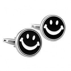 Jewelry Fashionable Design Of Brass Material, Smiling Face Men Cufflinks