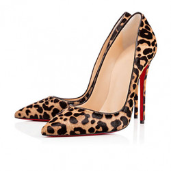 2017 New Women's Shoes Sexy Leopard High Heel Stiletto Shoes.