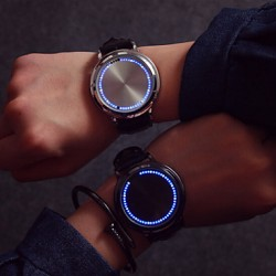 2017 Fashion Led Touch Screen Watch Luminous Light-Emitting Strap Students Lovers Watches (Assorted Color)