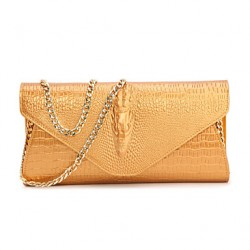 Women Cowhide Envelope Shoulder Bag/Clutch/Evening Bag/Card & Id Holder/Business Card Holder