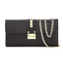 Women Cowhide Envelope Shoulder Bag/Clutch/Evening Bag/Card & Id Holder/Wristlet/Business Card Holder