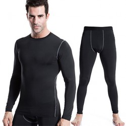 Men & #039;S Sports Training Pro Compression Tights Sport Suits Quick-Drying Clothes (Long Sleeve + Long Pants)