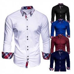 Men's Long Sleeve Formal Business Shirts