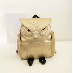 Fashion Women's Backpack PU Leather Owl Backpack