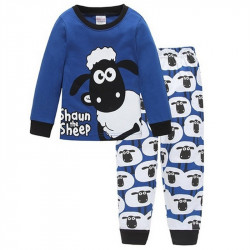 Boys Blue Sheep Children Pajamas Sets